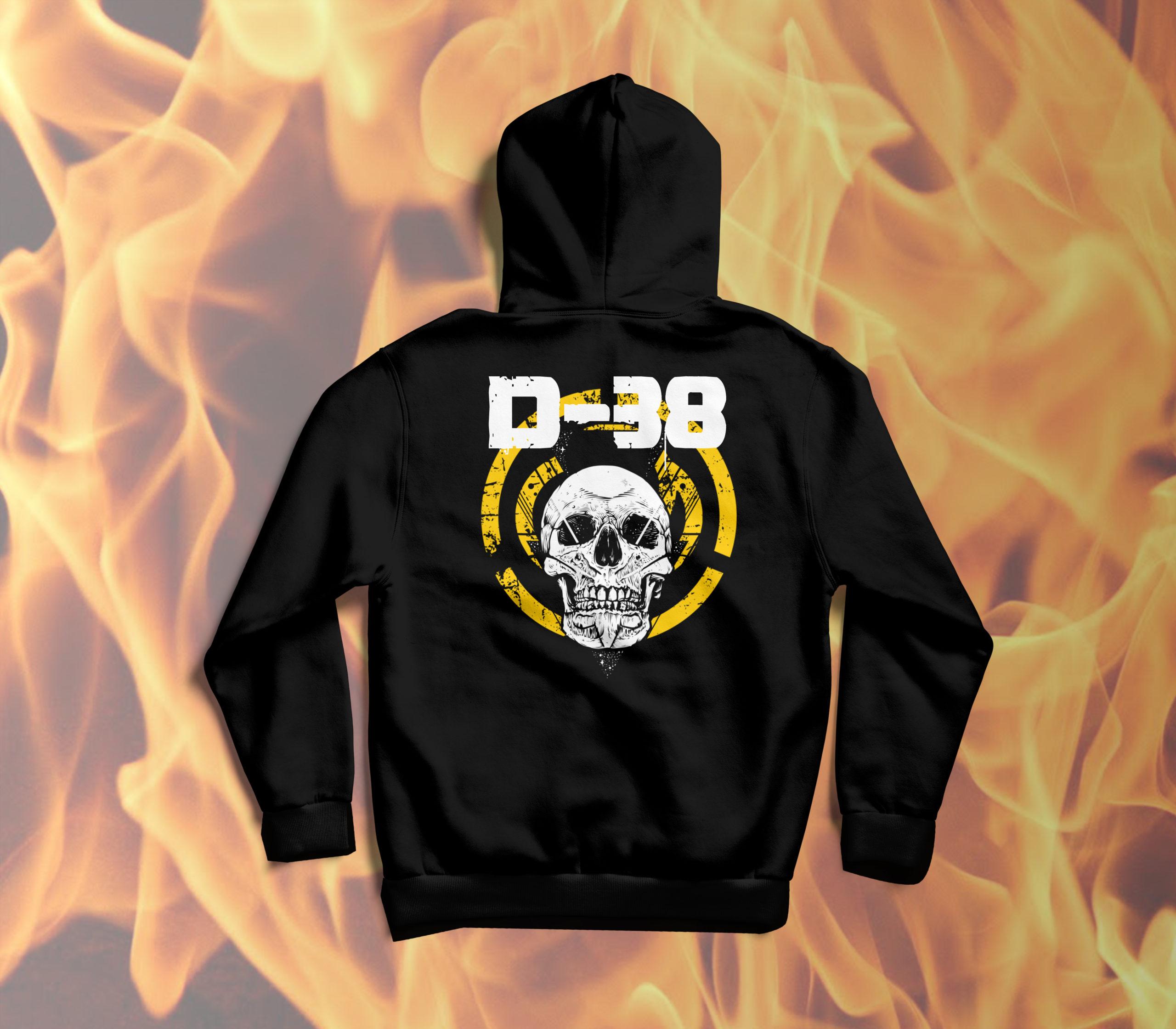 D-38 Skull Pulóver